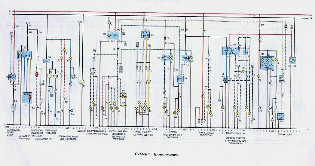Тут показаны электросхемы OPEL